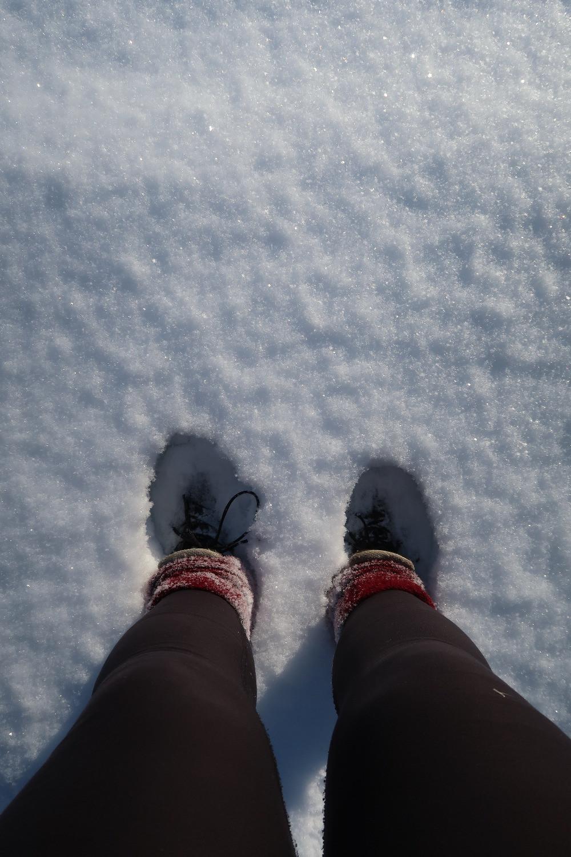 J'ai trouvé la neige dans les Rocheuses!