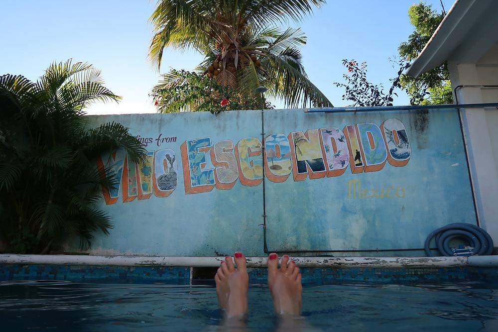 Relax à Puerto Escondido, dans un des meilleurs hostels où j'ai séjourné !