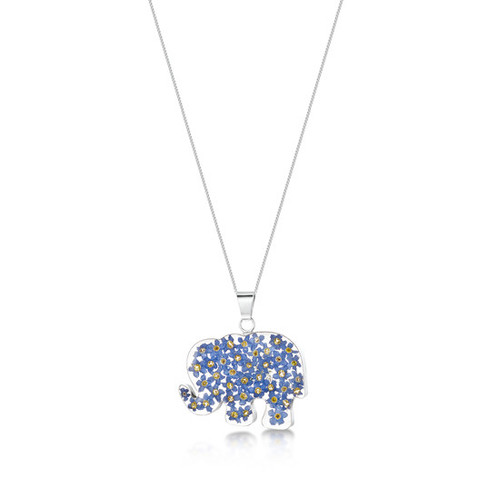 Forget me not elephant pendant karma ripon a gift shop with a forget me not elephant pendant aloadofball Image collections