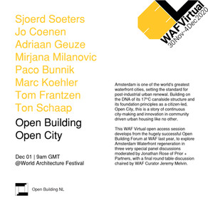 Prior + Partners at virtual World Architecture Festival - Open Building Open City 01/12/20, 09.10am