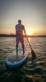 Red Paddle Sunset