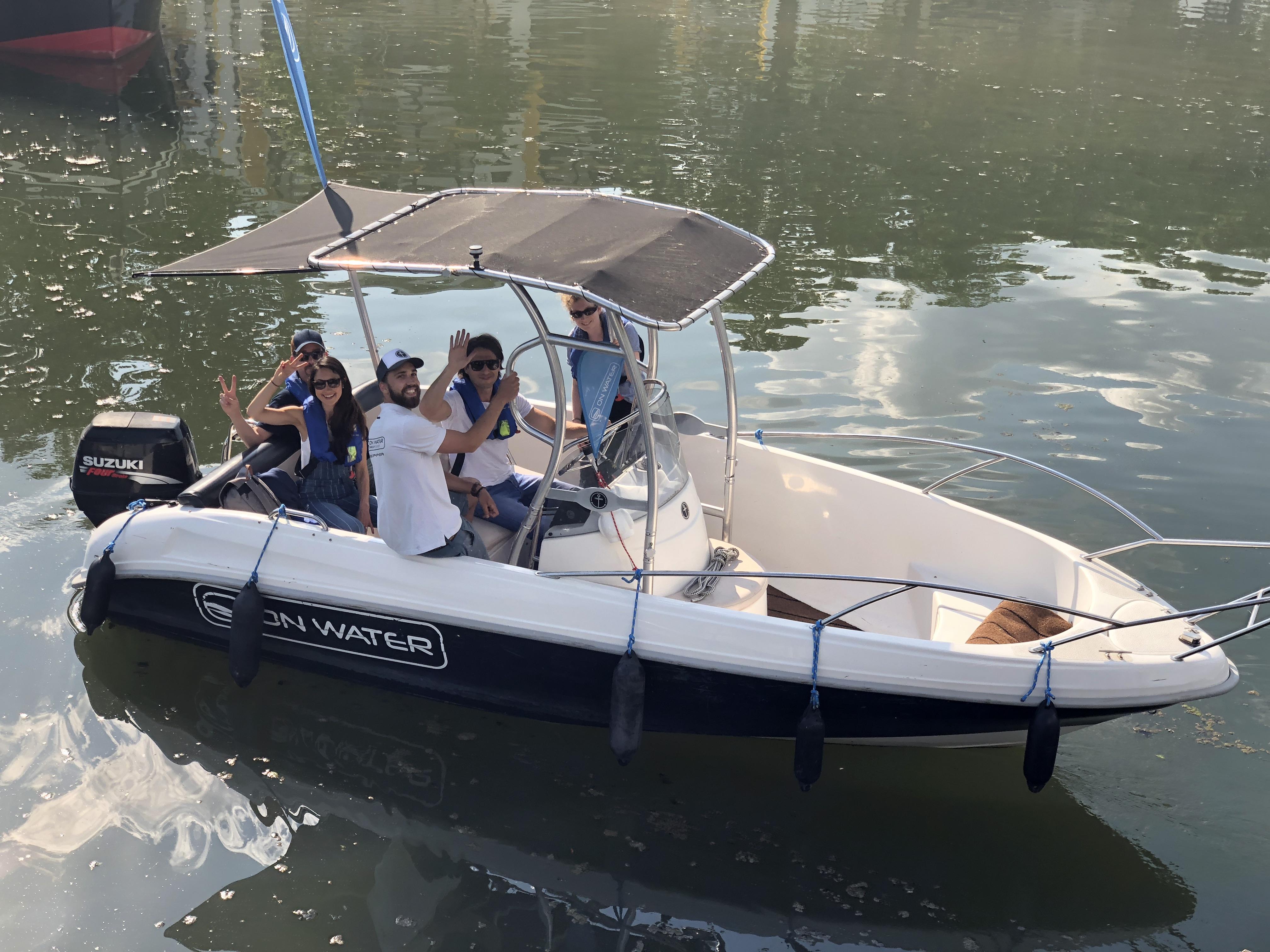 Fahrschulboot mit Hauke 22-5-18-5350