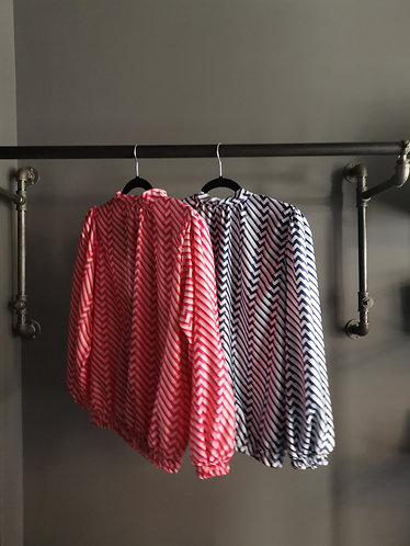 Patterned Silky Shirts