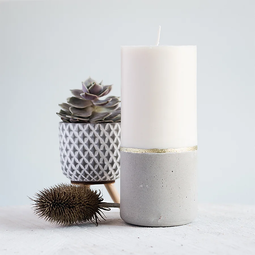 Smooth Concrete Candle