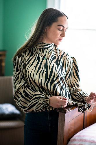 Tigs Silky Zebra Blouse
