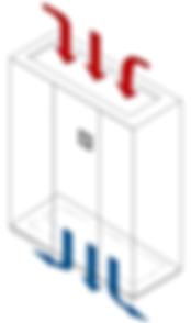 Configuration reprise dessus / Soufflage inversé