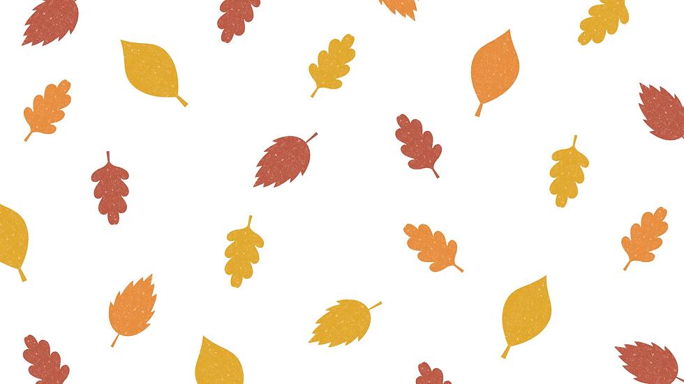 Pumpkin Leaves Pattern Fall Desktop Wallpaper (1).png