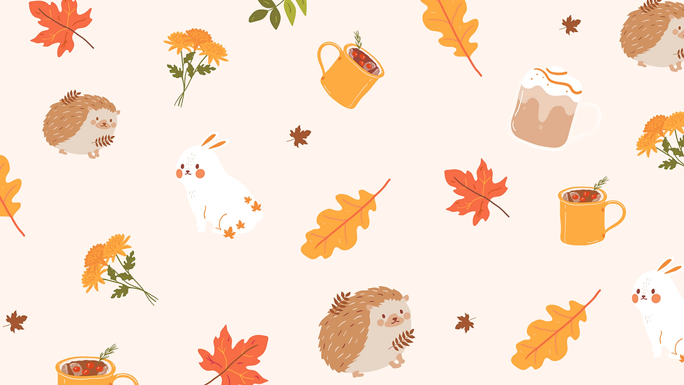 Brown and Orange Cute Illustration Autumn Facebook Cover.png