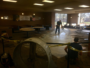 Caf repair nearly complete
