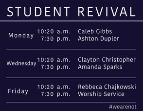 Student Revival: #wearenot