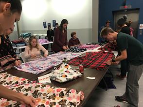 MVNU students make blankets for foster children