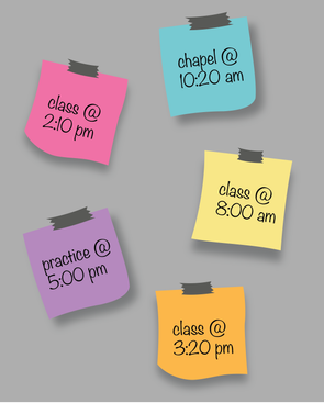 Student Life requisitions student schedules