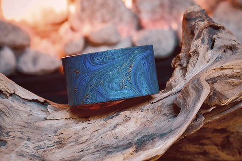 Hand Marbled Leather Wrist Wraps