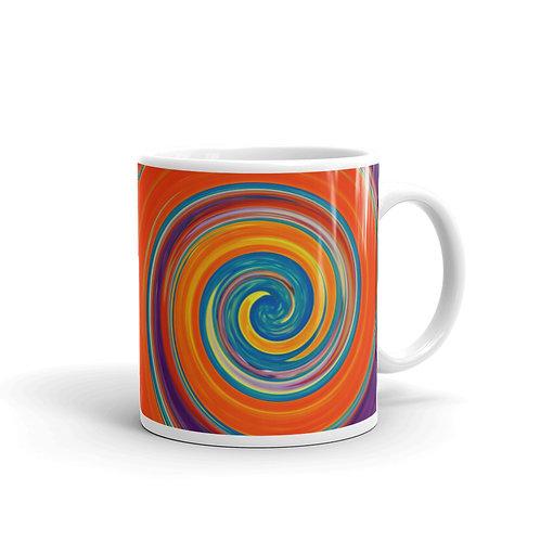 hypnotic orange and purple