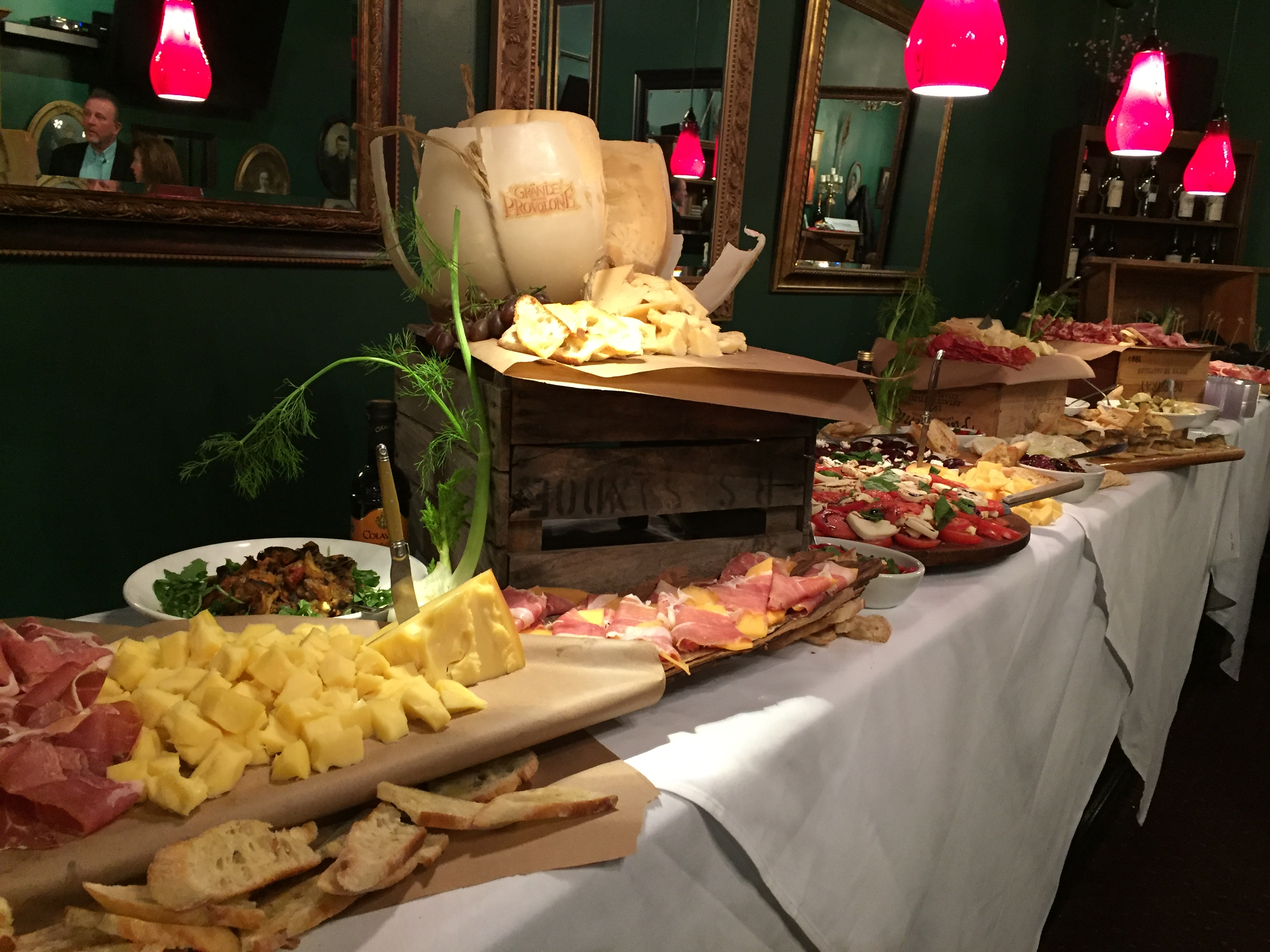 Catered antipasto display