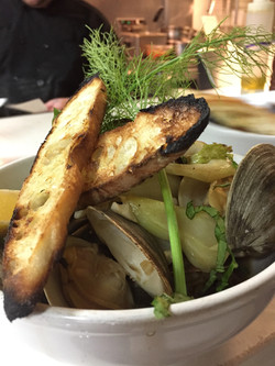 Fire roasted Clams