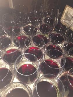 Wine dinner sample glasses