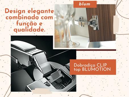 Dobradiça CLIP top BLUMOTION | AVENTOS HK-XS | CORREDIÇA BLUM TANDEM
