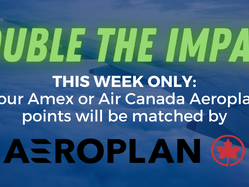 Aeroplan is matching donations of points to Miles4Migrants this week.