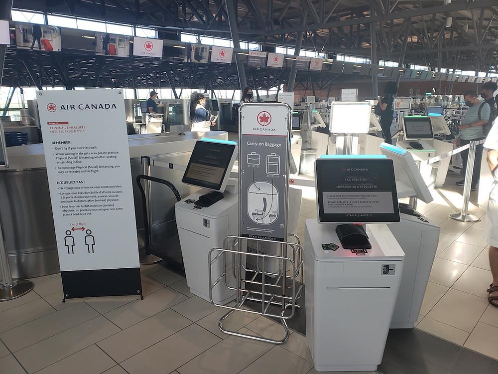 Air Canada Check-In Kiosks, Ottawa International Airport