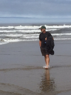 Tim on the beach