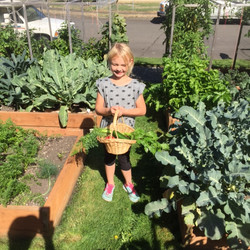 Granddaughter in Grandmas Garden