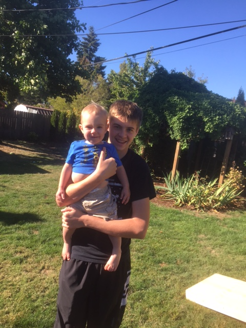 The oldest and youngest Grandkids