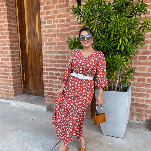 Vestido Talia - Terracota