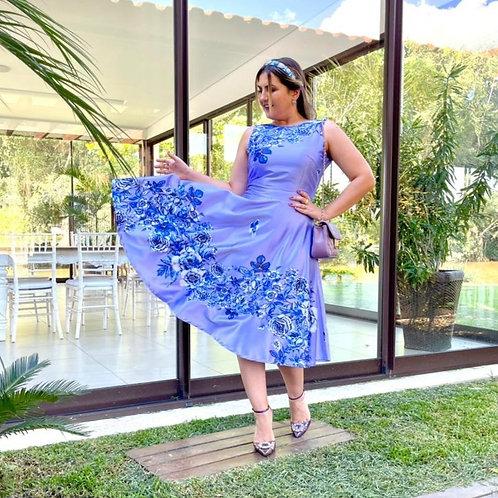 Vestido Midi Lady- Lilás