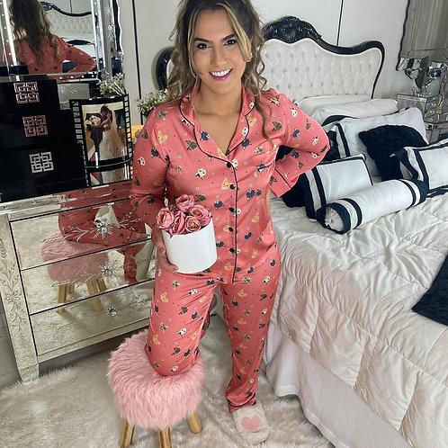Pijama Cat my Pet - Rose