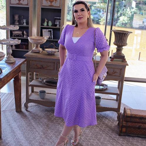 Vestido Midi Suzi - Lesie Lilás