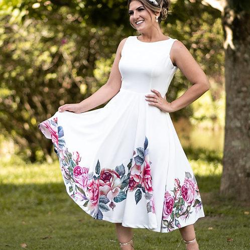 Vestido Midi Doce da Vida - Branco