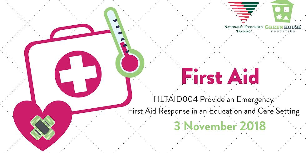 First Aid - 3 November