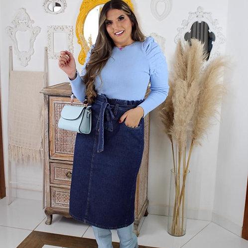Blusa tricô - azul