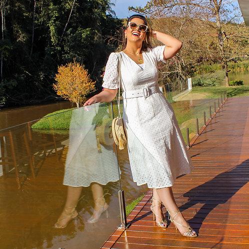 Vestido Midi Suzi - Lesie Branco