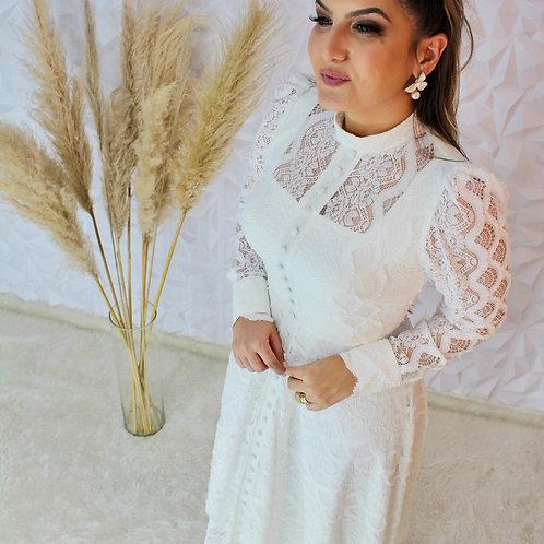 Vestido Midi Sonho Real - Off White