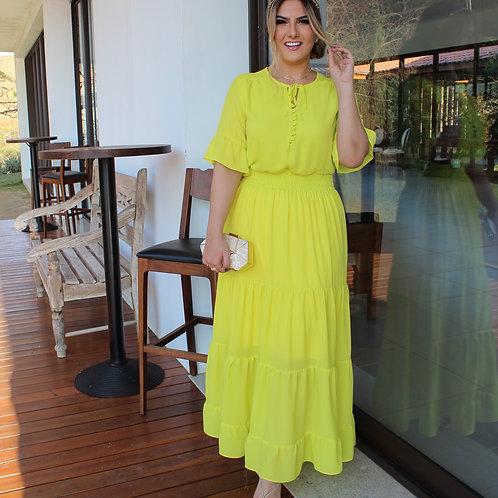 Vestido Beca - Verde Neon