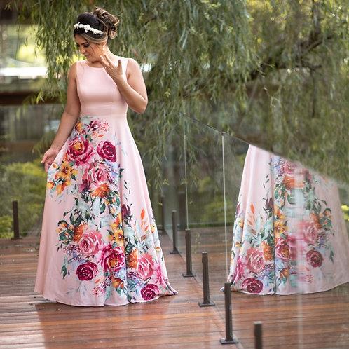 Vestido Longo Florescer - Rose