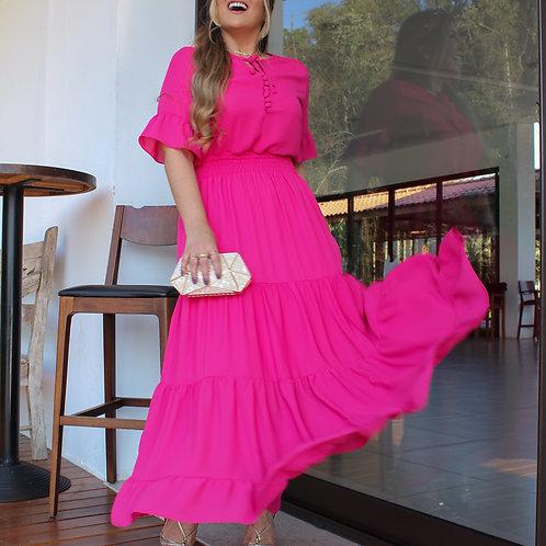 Vestido Beca - Pink