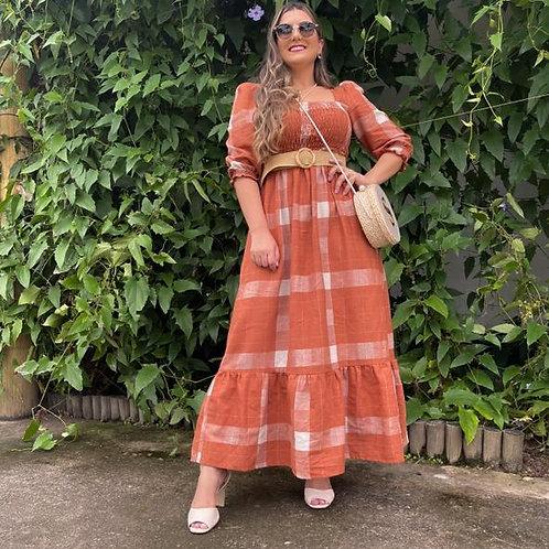 Vestido Elizabeth - Terracota