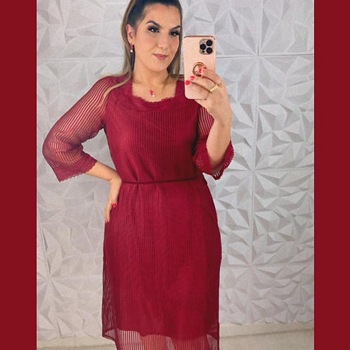 Vestido Renata - Vinho