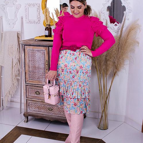 Blusa Tricô Bianca - Rosa