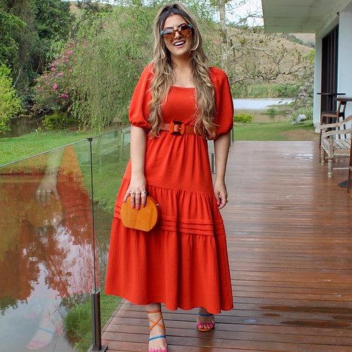 Vestido Tammy - Terracota