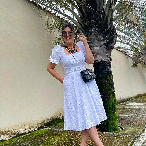 Vestido Midi Lesie Branco