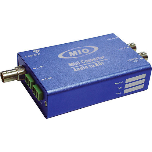 MMIO EMB-HDSDI 3G/HD/SD Signal & Analog Audio Embedder