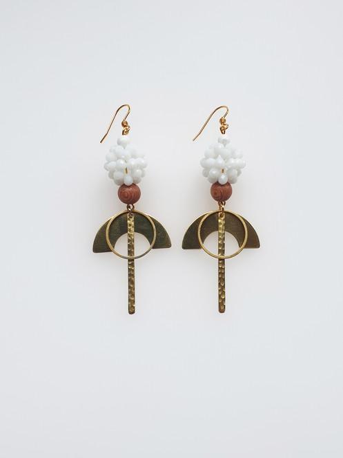 9c78d7f97 Peony Earrings- white