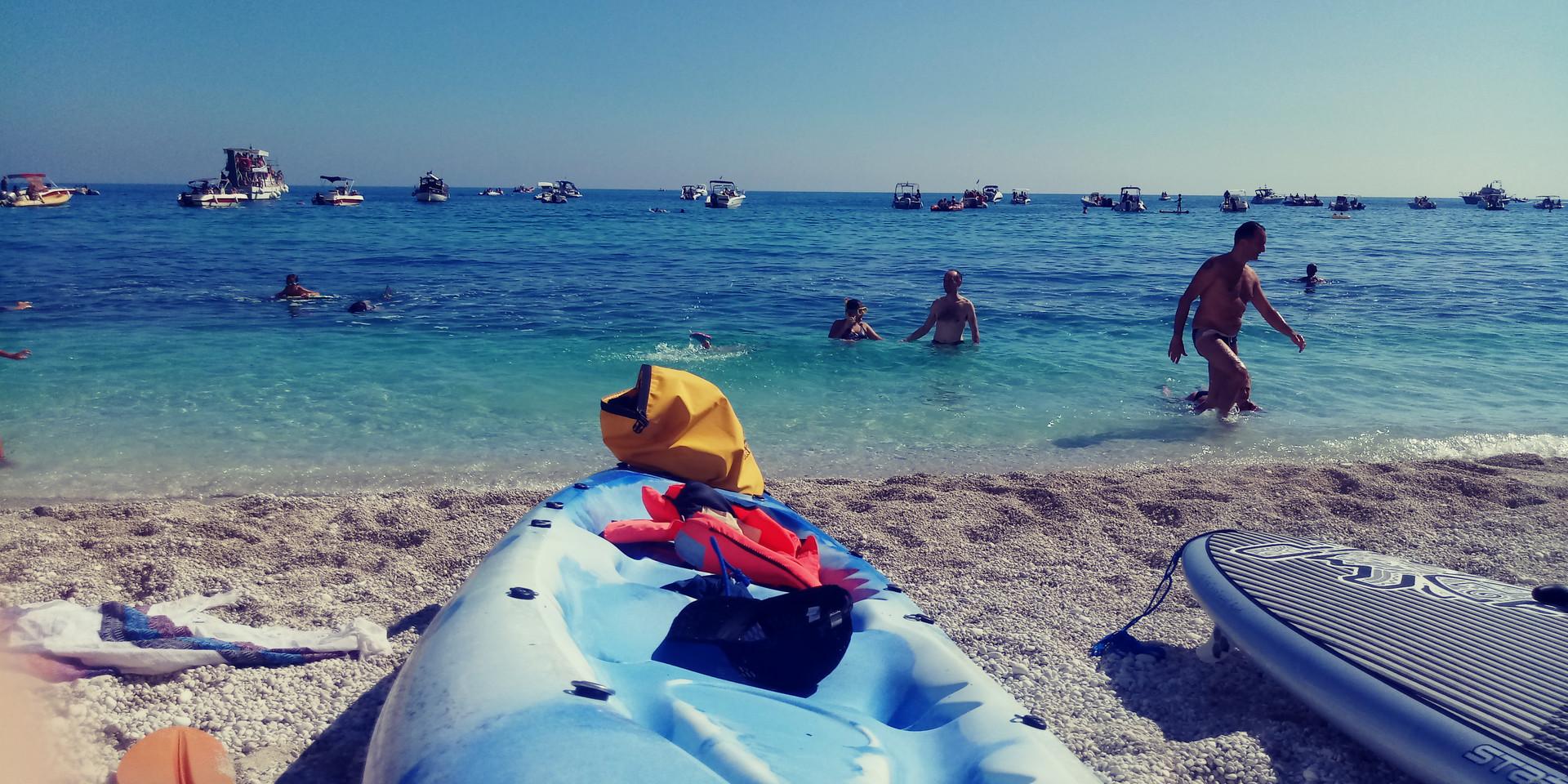Kayak a Portonovo