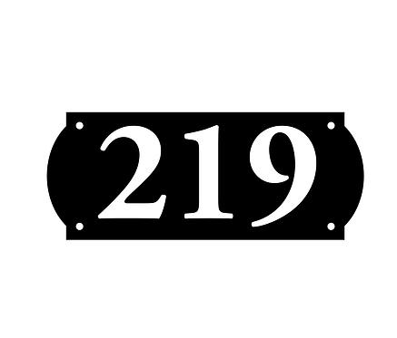 Address Number - Horizontal