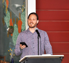 Our Featured Reader Rob Hendricks reding from Oppressorface, his first collection of poetry.