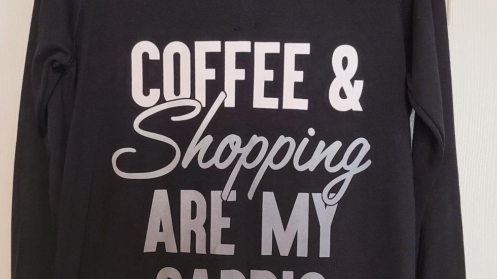 Coffee & Shopping Sweatshirt